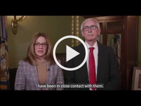 Governor Evers and Secretary-designee Andrea Palm talk about 2019 novel coronavirus