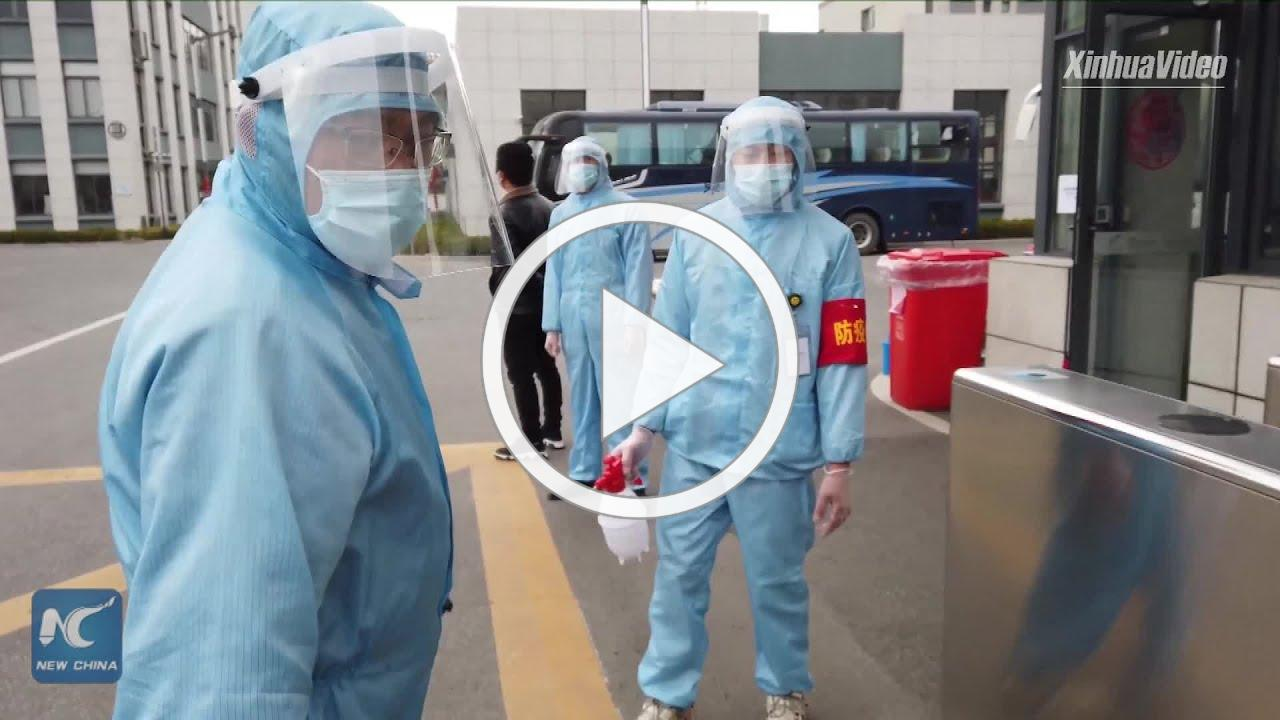 Coronavirus fight: A day in a Chinese factory