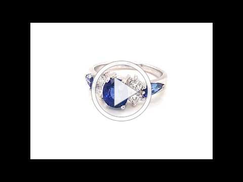 Mdj Advantage 4008084 - Beverly K - sapphire Diamond Ring - Dominic Mainella