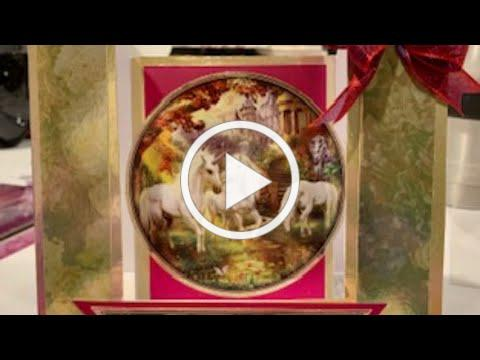 Live Stream Hunkydory Land of Enchantment Unicorns Card Class -- Makes 4 Cards