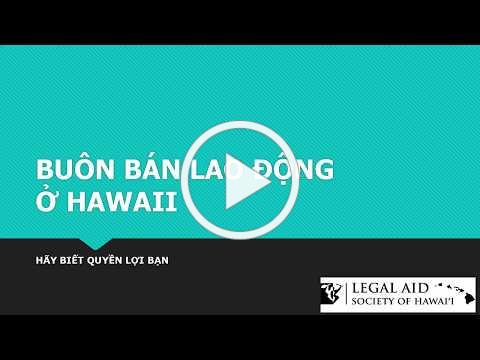 LABOR TRAFFICKING IN HAWAII Vietnamese 2018