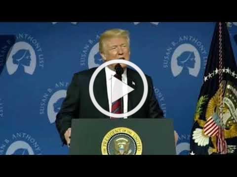 President Trump Speaks at Susan B. Anthony List Gala