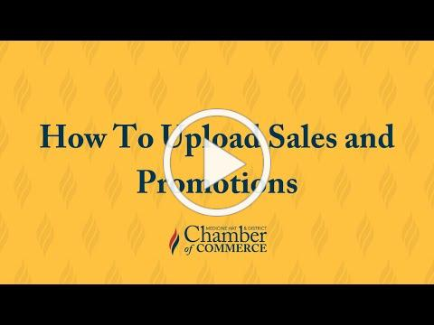 How To Upload Sales and Promotions