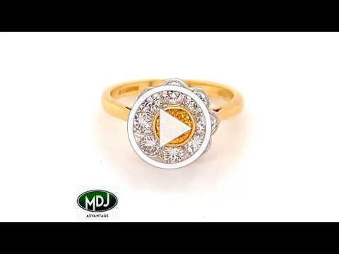 MDJ Advantage - Garrard London natural fancy Orange Diamond Ring - Dominic Mainella