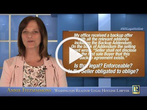 Secret Backup Buyer Agreement