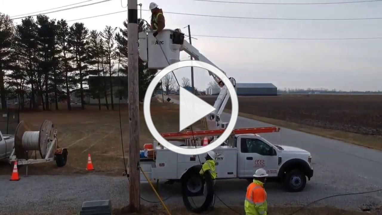 First fiber hanging in Heartland
