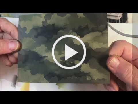 Making Camouflage with the Cloud Edger Stencil