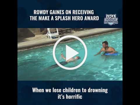 Rowdy Gaines Wins the Make a Splash Hero Award