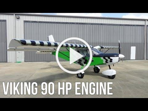 Viking 90HP Engine On The SP-30 STOL Airplane