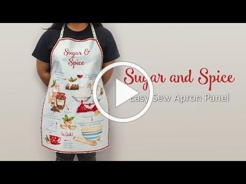 Sugar and Spice Easy-Sew Apron