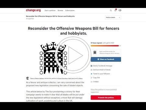 UK Ban on Postage of Knives (and all Bladed Objects) - Petition