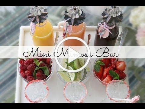 Mini Mimosa Bar: Mother's Day Brunch. The Glamorous Housewife Entertains