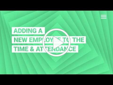 Adding a New Employee to Time & Attendance