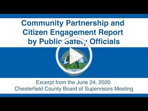 Community Partnership and Citizen Engagement Report by Public Safety Officials