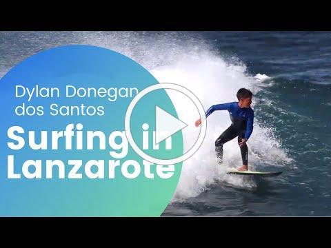 Surfing in Lanzarote, La Santa and Famara, Dylan Donegan dos Santos - Canary Islands