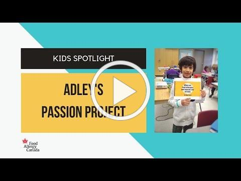 Kids spotlight: 8-year-old Adley is passionate about food allergy education