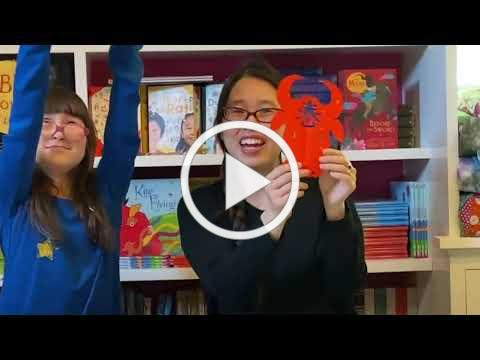 Grace Lin shows how to make a Chinese paper cut to celebrate the Year of the Ox