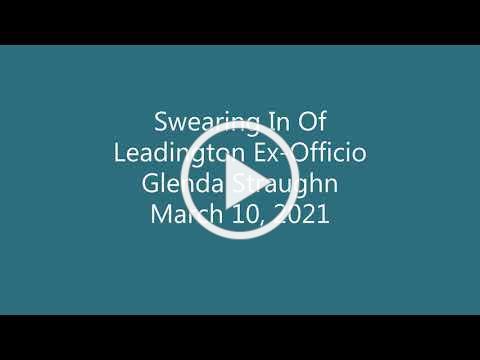 Swearing In of Leadington Ex-Officio, Glenda Straughn