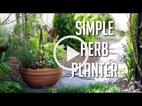 Simple Herb Planter