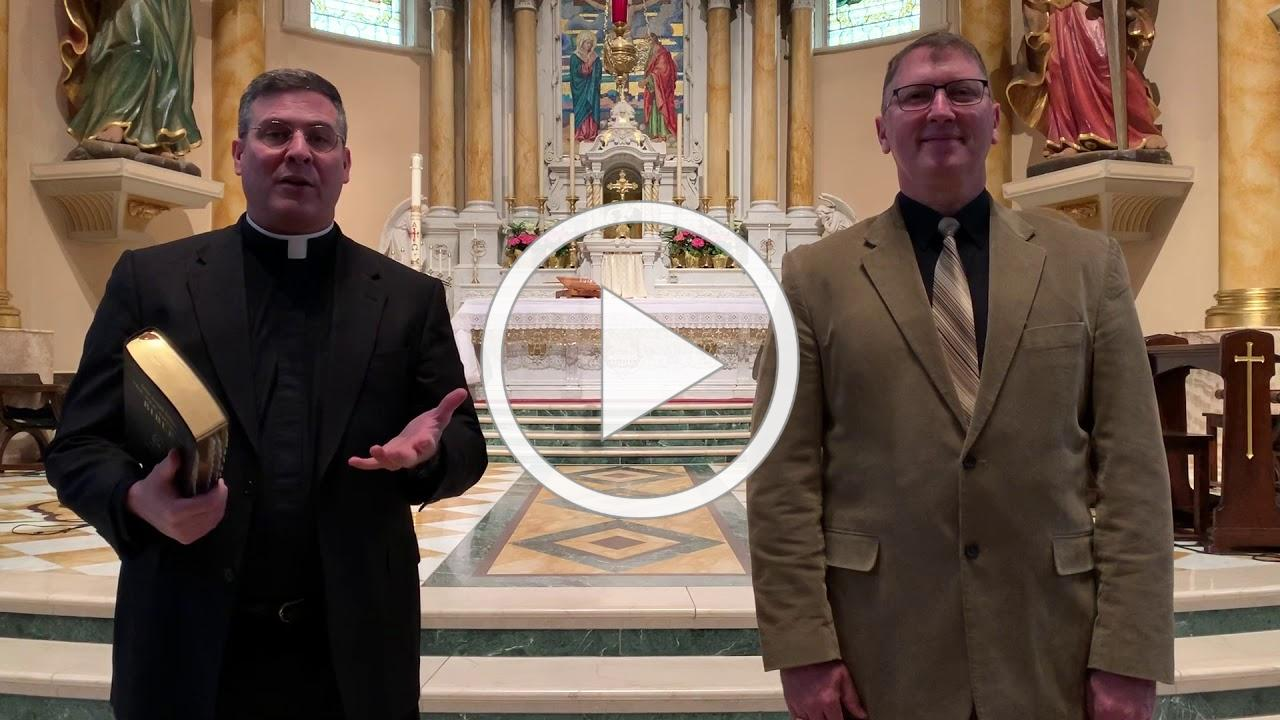 Blessed Easter from Fr. Moriarty and Dr. Ferdinandt