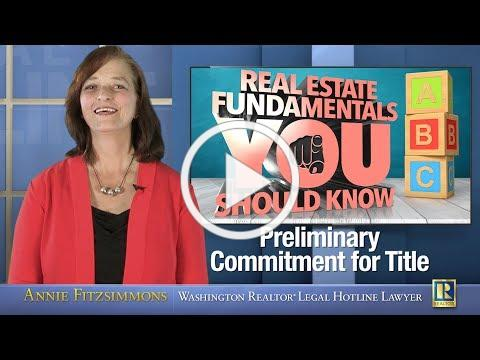 Preliminary Commitment for Title