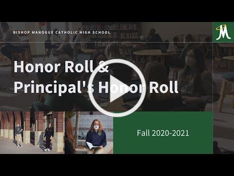 Honor Roll for Fall Semester 2020-2021