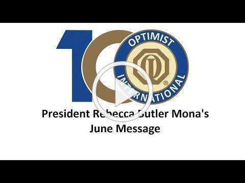 June message from President Rebecca Butler Mona