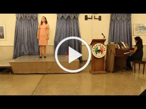 Vocal Scholarship - Raimondi Scholarship Winner - November 10, 2019 - Video 1 of 2