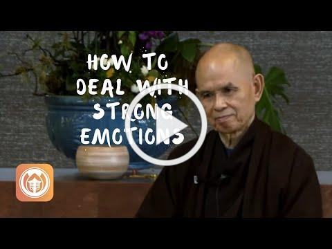 How To Deal with Strong Emotions | Thich Nhat Hanh (short teaching video)