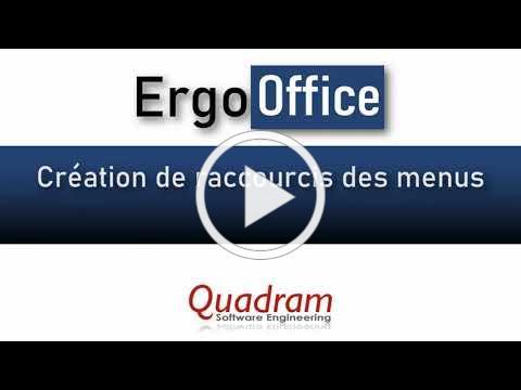 ErgoOffice - Widget Raccourcis