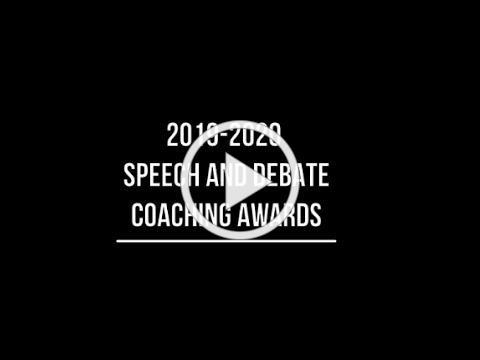 CHSAA Speech and Debate Coach Awards