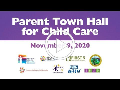 Parent Town Hall: Child Care During COVID-19