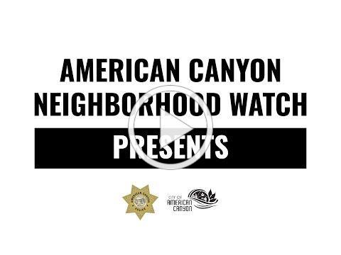 Lobo Leads American Canyon Neighborhood Watch