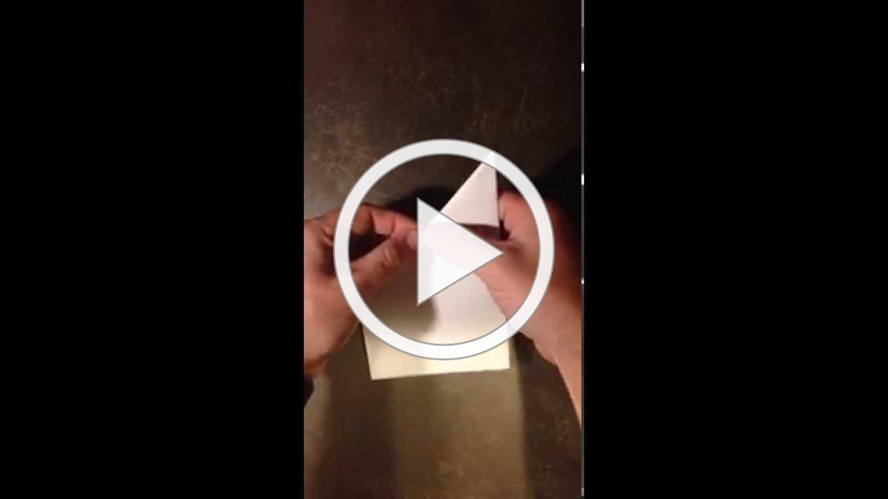 Folding a paper cross