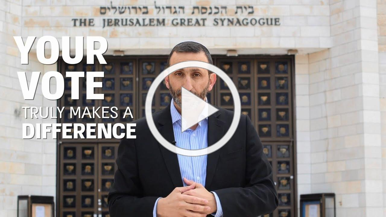 How YOUR vote will make a difference! Rabbi Perez reveals the effect on your lives by voting Slate 4