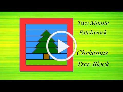 Easy Patchwork Block Tutorial - Christmas Tree block