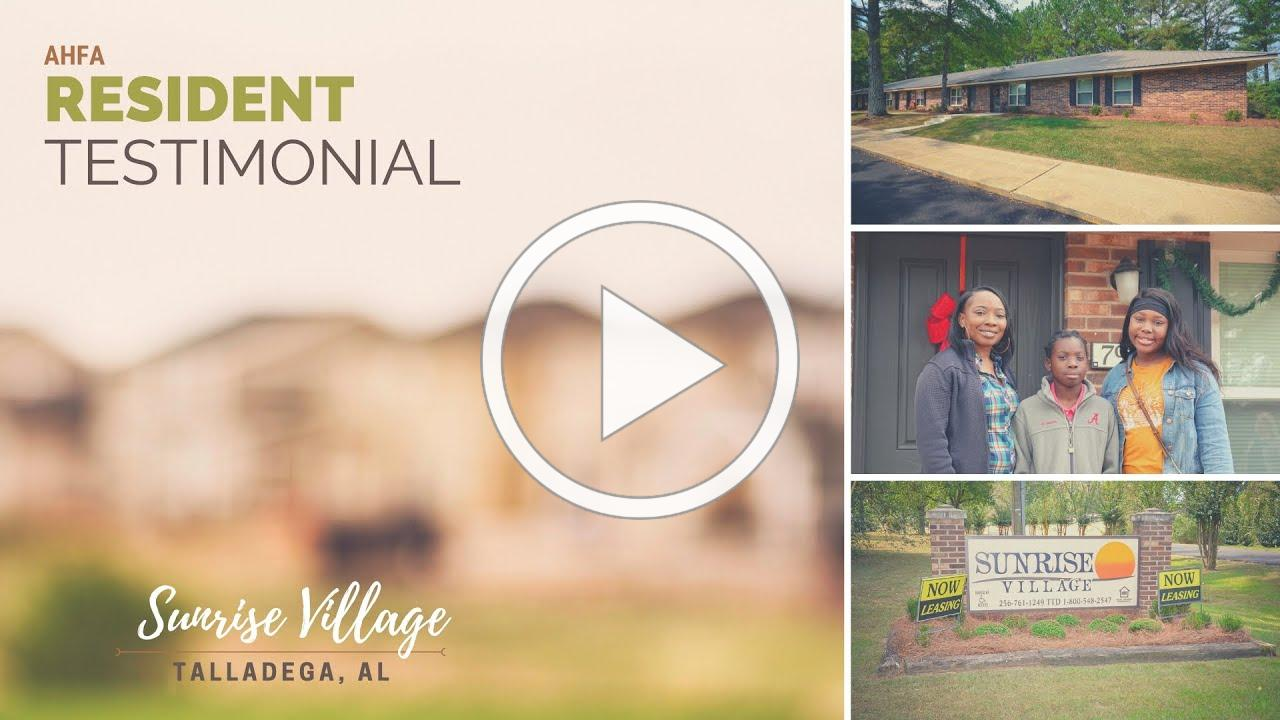 Resident Testimonial: Sunrise Village, Talladega