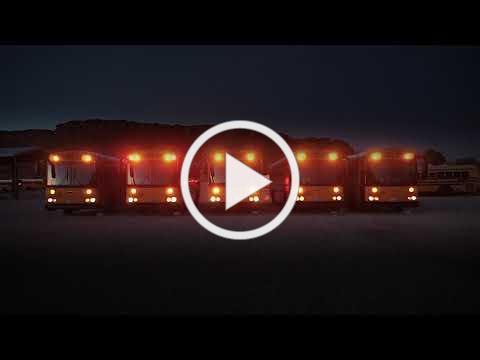 School Bus Christmas Light Show