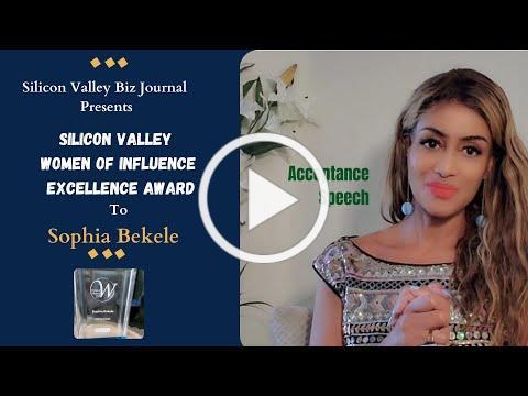 Sophia Bekele Women Of Influence Award 2021 Acceptance Speech🏆 on Slant 🎤