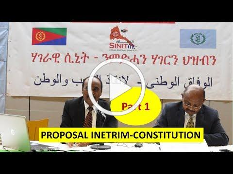 Part 1 - PROPOSAL INETRIM-CONSTITUTION