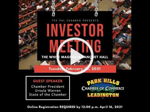 Investor Meeting - Feburary 2021