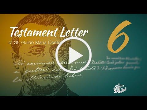 Episode 6: Testament Letter of St Guido Maria Conforti