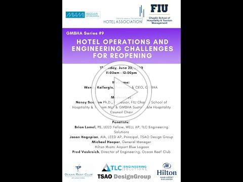 GMBHA Series #9 Hotel Operations and Engineering Challenges for Reopening
