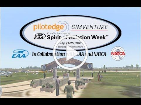 SimVenture 2020 - Fly into Oshkosh on your Flight Simulator with Real ATC (Fisk Arrival)