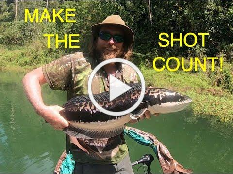 MAKE THE SHOT COUNT!! GIANT SNAKEHEAD FLY FISHING