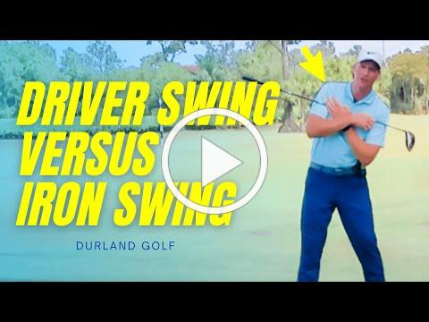 GOLF TIP | The Difference Between A DRIVER SWING And An IRON SWING In Golf