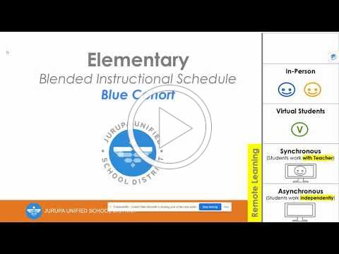 JUSD - Elementary - Blended Instructional Schedule - Blue Cohort