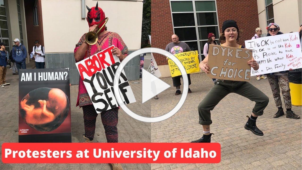 Protesters at University of Idaho