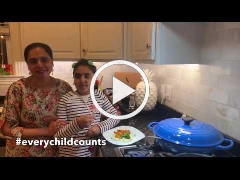 Award-winning Chef Maneet Chauhan cooks Desi Shrimp and Upma Grits for Children's Hope India