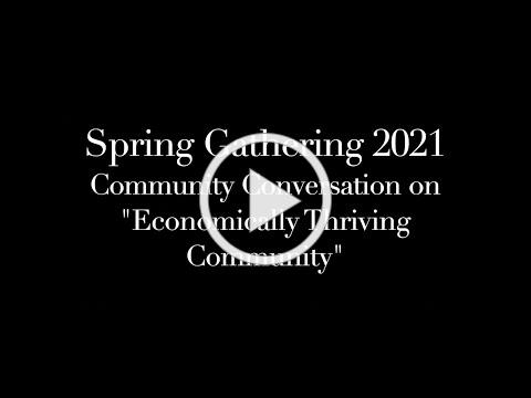 Welcome to Community Conversation - Towards an Economically Thriving Community